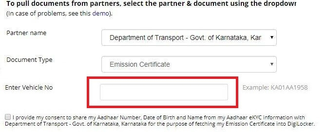 Vehicle Documents Driving License RC PUC Emission Certificate