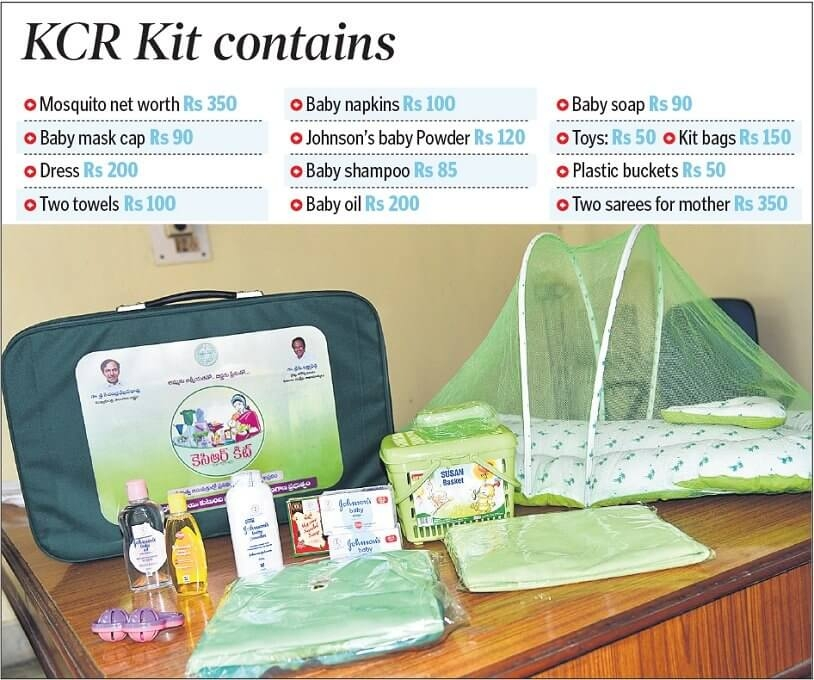 kcr kit telangana baby care welfare