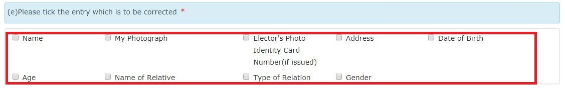 Voter ID card name correction