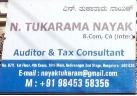 Tax returns filing agent in  Indiranagar, Bangalore | Tukarama Nayak