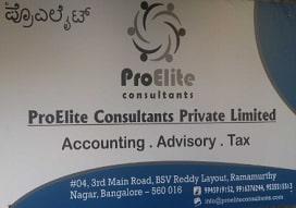 Tax returns filing agent in  Ramamurthy Nagar, Bangalore | ProElite Consultants
