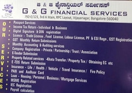 Pan card agent in  Vijayanagar, Bangalore | G&G Financial Services